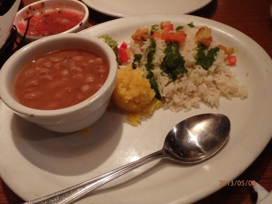El Torito: beans and rice and sweet corn cake