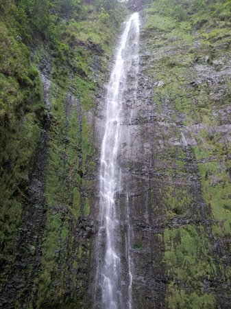 Parco nazionale di Haleakala, HI: 400 ft. waterfall, the prize at the end of the hike