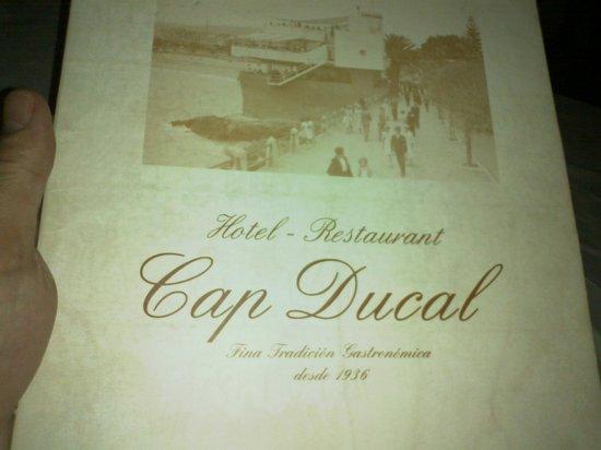 Hotel Restaurant Cap Ducal: Menú