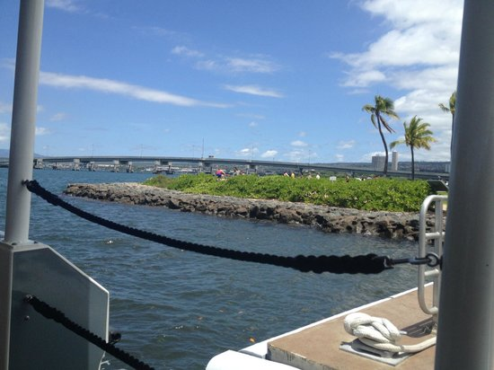 USS Arizona Memorial/World War II Valor in the Pacific National Monument: on the way out