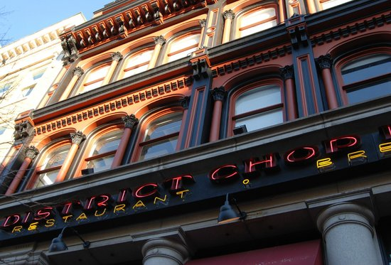 District Chophouse & Brewery: Outside facade of Chophouse