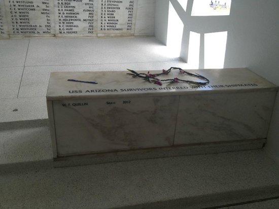USS Arizona Memorial/World War II Valor in the Pacific National Monument: names of the fallen