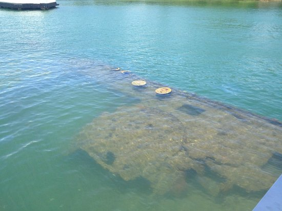 USS Arizona Memorial/World War II Valor in the Pacific National Monument: submerged USS Arizona