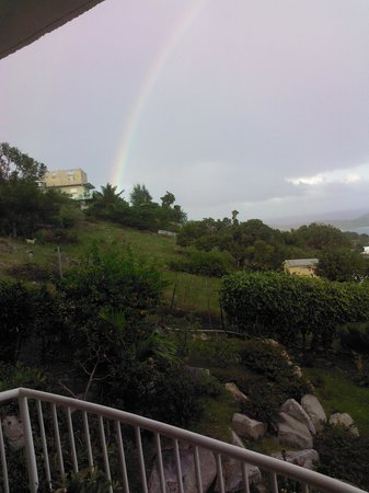 Gordian Terrace: Virgin Gorda beautiful rainbow