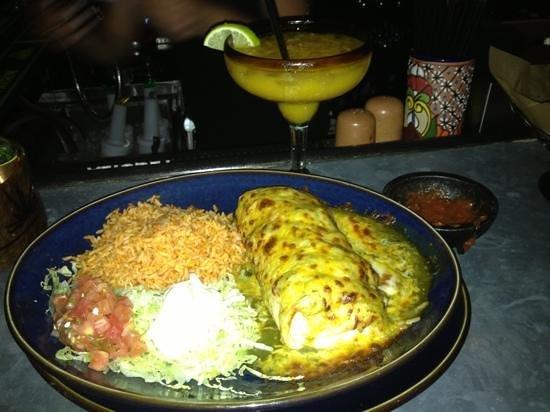 Anejo Mexican Bistro & Tequila Bar: delicious burritos and mango cocktail
