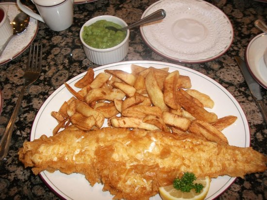 Trenchers: haddock, chips and peas