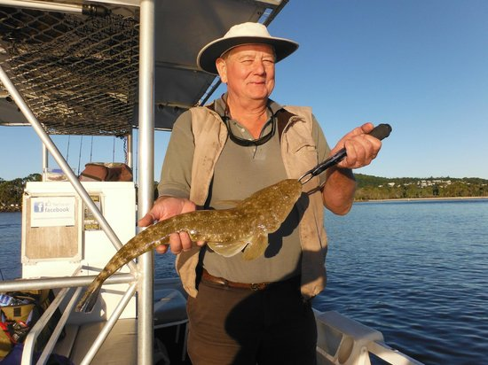 Noosa River Fishing Safaris: Ross caught this 58cm Flathead drifting at the river mouth.