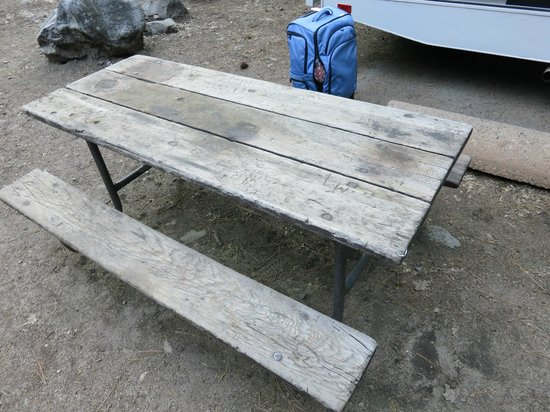 Upper Pines Campground: Our picnic table