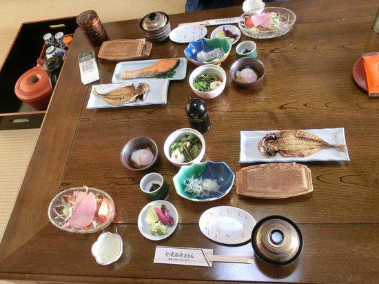 Nanadaru Onsen Hotel : Breakfast in room