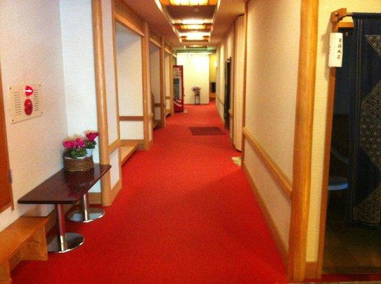 Nanadaru Onsen Hotel : Ground floor, where all the baths are