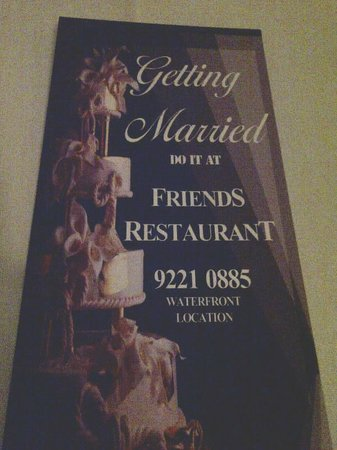 Friends Restaurant: A beautiful venue for any occasion