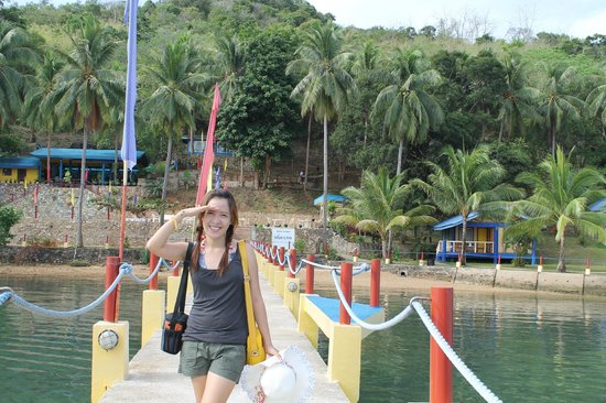Dive Link Coron Adventure Island Resort: the walkway