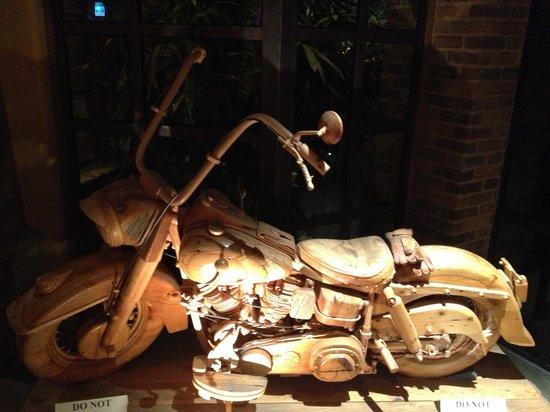 Jackalope Ranch: Carved Wooden Harley Davidson