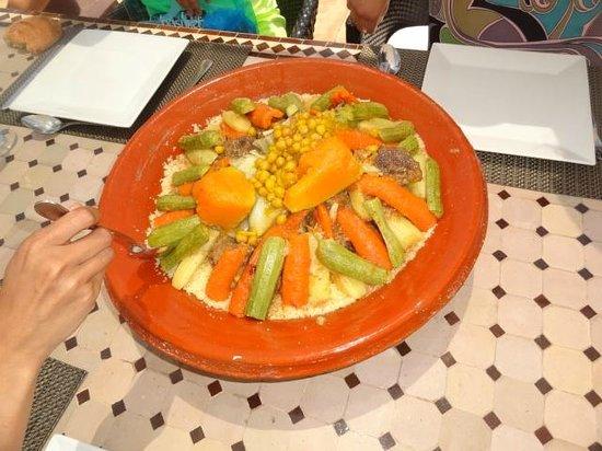 La Villa des Golfs: Le couscous du vendredi...Tout juste délicieux!!!