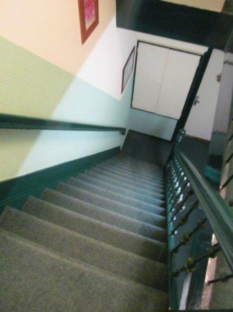 Freeland Hotel: scalinata per raggiungere le camere