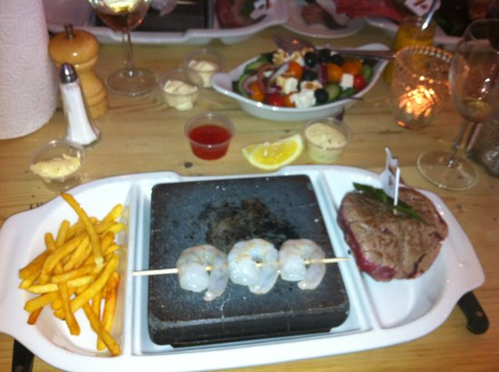 On the Rocks: Surf and turf