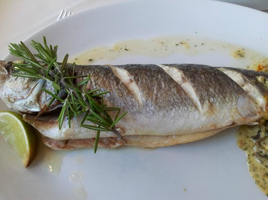 Floods Restaurant: The whole sea bass a must for fish lovers.
