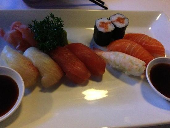 Oishii: entree of sushi - yum!