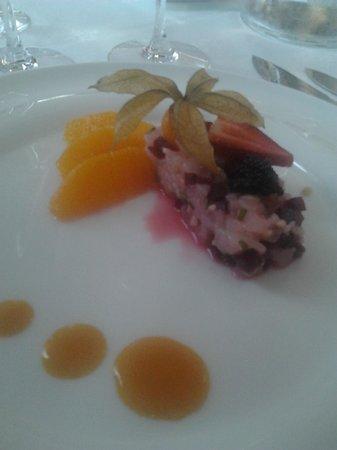 Le Bistrot Gourmand : Carpaccio de St Jacques et caviar