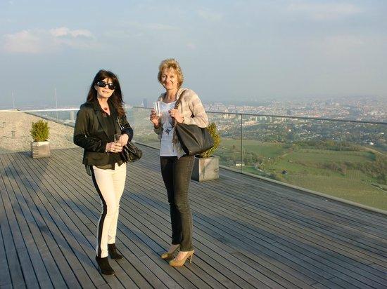 Suite Hotel Kahlenberg: Blick von der Dachterrasse