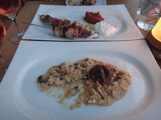 Leb-i Derya: Lamb & chicken kebab, and mushroom risotto (to die for!)