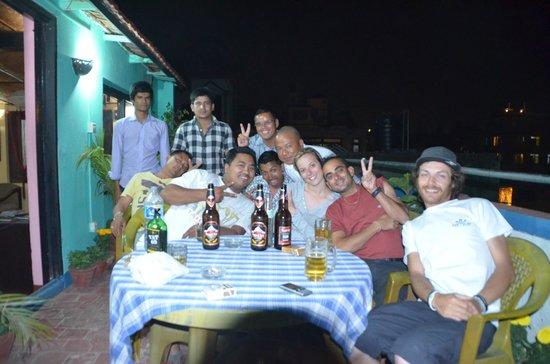 Derniere soirée avec l'équipe Pariwar B&B