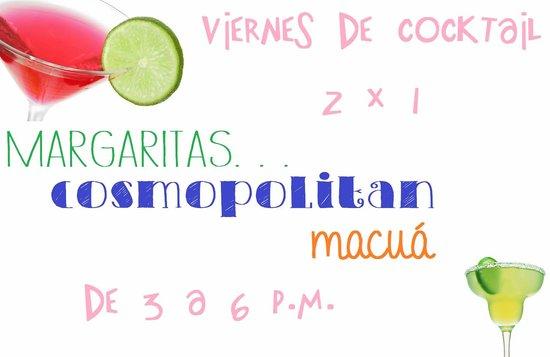 Masaya Department, Nicaragua: Promocional de cocktails, todos los viernes