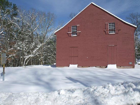 Old Christ Church, Laurel in winter