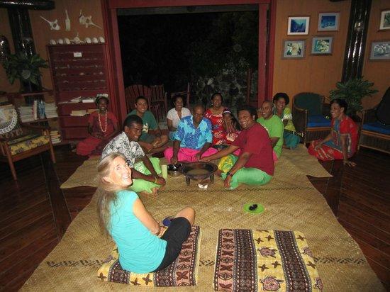 Namena Island Dive Resort: Kava ceremony