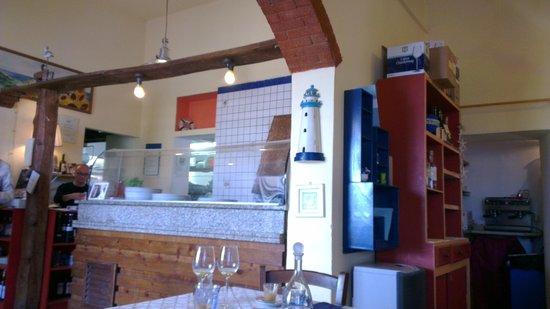 Ristorante Pizzeria Lo Scoglietto: ...bancone pizza...