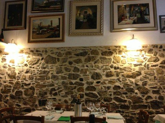 Taverna Portosalvo: Particolari al muro