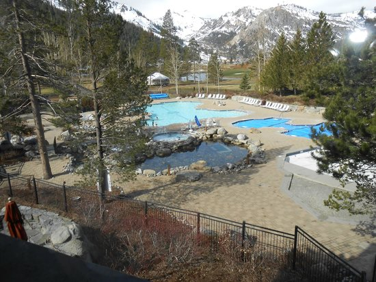 Resort at Squaw Creek: the pool and the ivce rink in winter