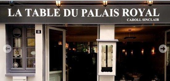 La Table Du Palais Royal Paris