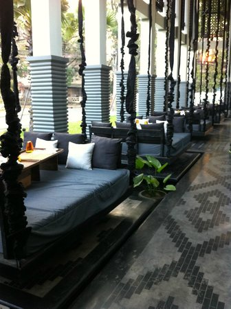 Shinta Mani Angkor: Mesas colgantes para tomar desayuno!!!!!!!!!