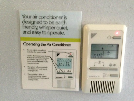 Aloft Richmond West: Thermostat with instructions