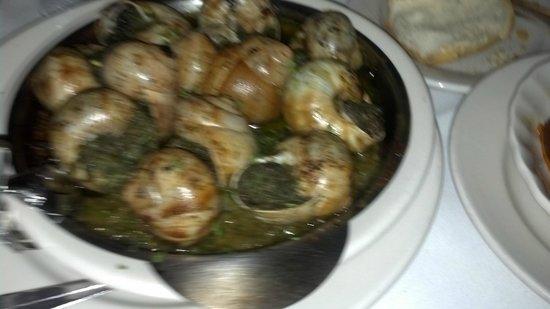 """Le Rivage : Escargots """"à l'Ail"""", a dozen Snails with a French Garlic Butter"""