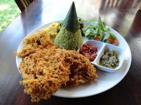 Warung Ole: Pandan rice set