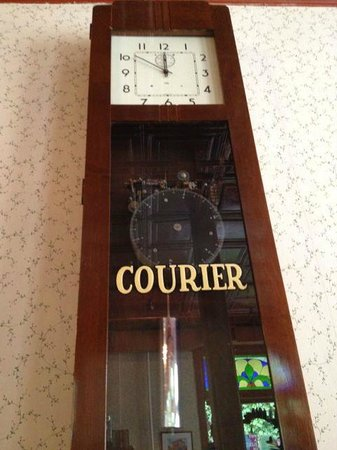 The Courier Cafe: The master clock