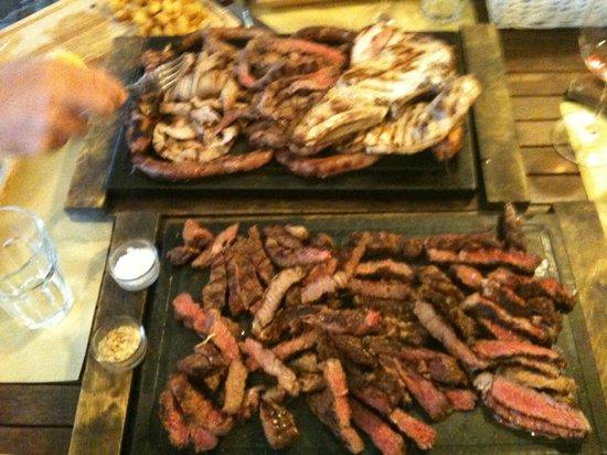 Osteria del porco: grigliata mista e tagliata dei 3 manzi
