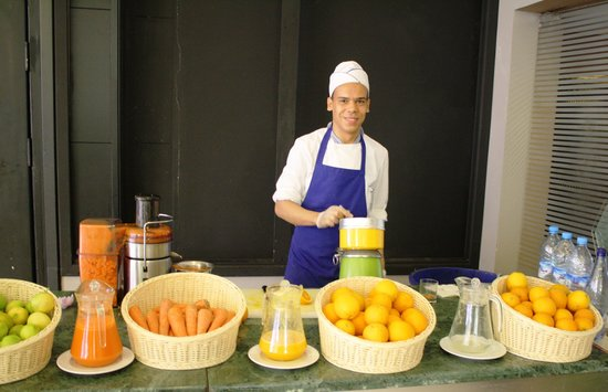 Le Palace d'Anfa : Breakfast juice bar.