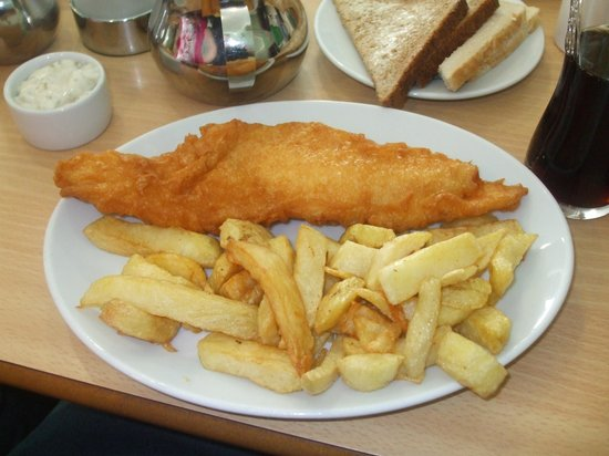 Skyliner Restaurant : My first gluten free fish and chips at skyliner