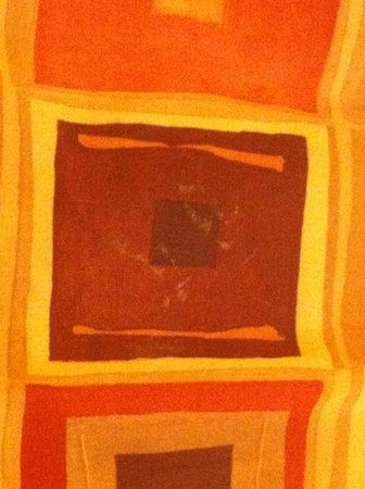 "Executive Inn At Whistler Village : stains on bedspread that were ""paint"""