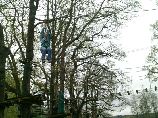 Treetop Trek: The first zip rope