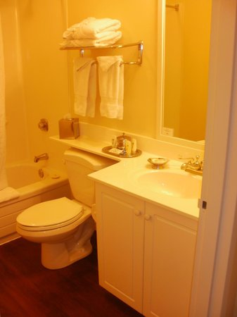 Windermere House Resort & Hotel : clean bathroom with laminate flooring