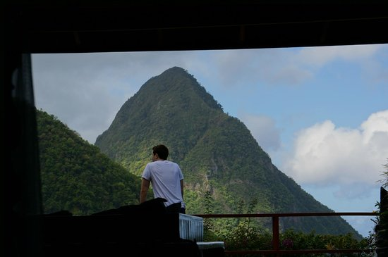 Ladera Resort: View from bed of our room