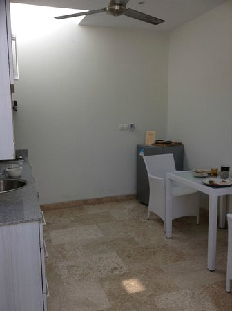 Jas Boutique Villas: Kitchen Area, separated from Room