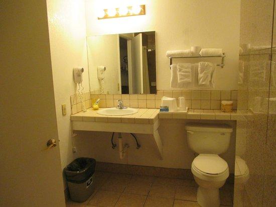 Knights Inn Carmel Hill: Specchiera bagno