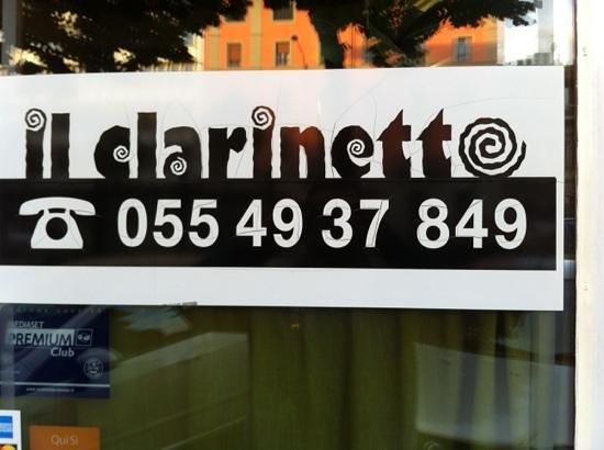 Ristorante Pizzeria Il Clarinetto : la porta di ingresso.