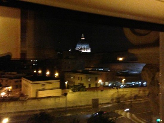 A View of Rome: Vatican at night from VOR room window