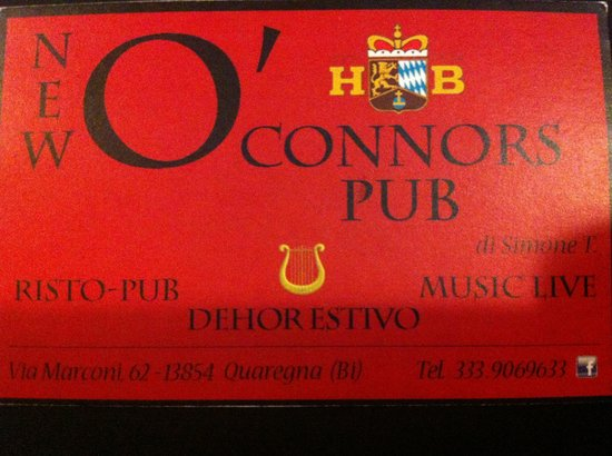New O'Connors Pub